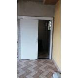 porta de aço automática Alto da Lapa