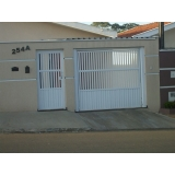 portão social com puxador São Bernardo do Campo