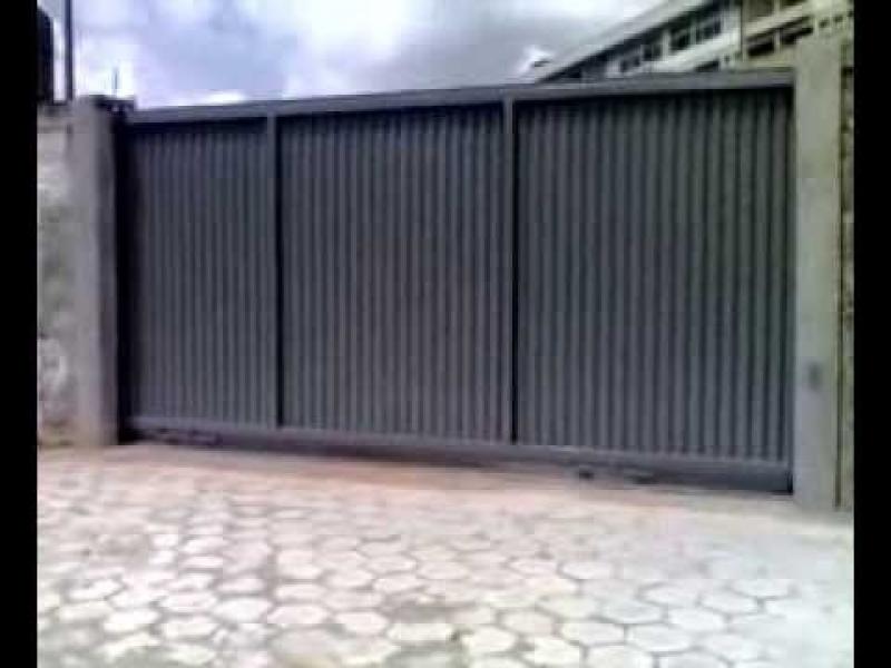 Automação de Portão Industrial Santo Amaro - Automação de Portão Duplo Deslizante