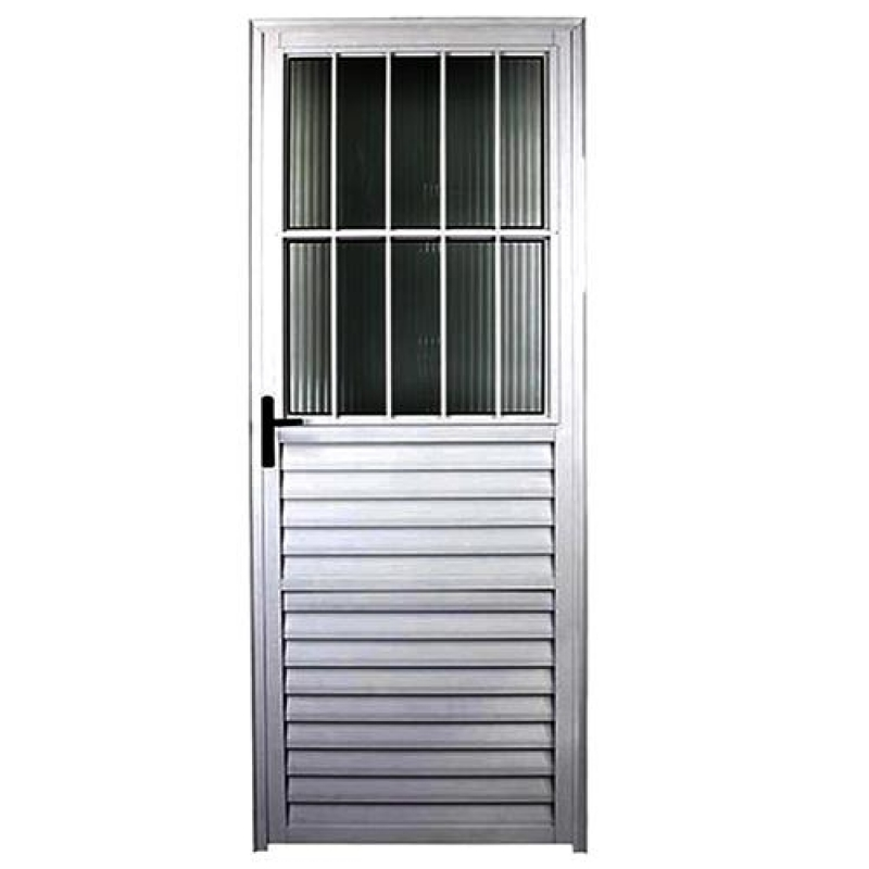 Porta de Aço com Portinhola Brooklin - Porta de Aço Blindada