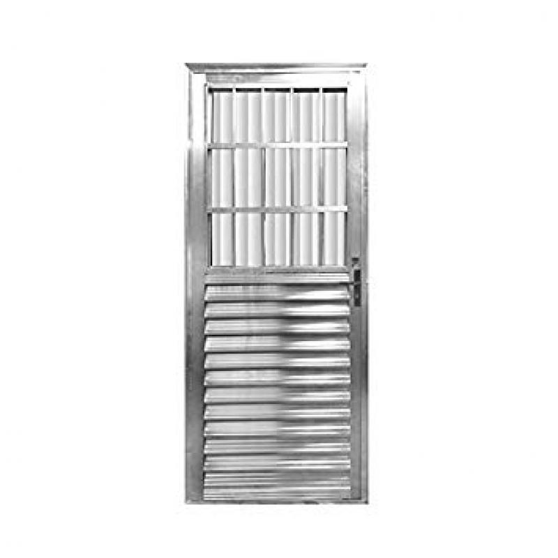 Porta de Aço Reforçada Cotação Jabaquara - Porta de Aço Blindada