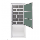porta de aço reforçada Casa Verde