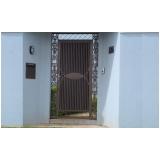 portão social basculante orçamento Rio Pequeno